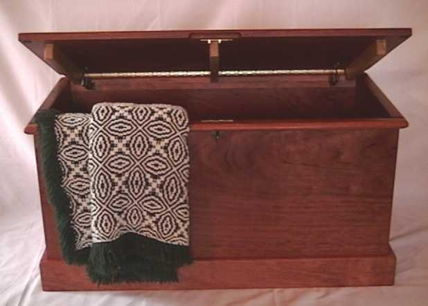 Solid hope chest made out of Bubinga, a West African wood