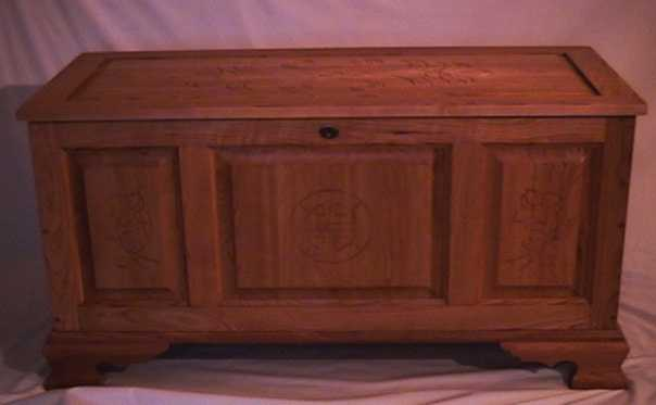 cedar hope chesthand carvings solid cherry aromatic cedar floor - Hope Chests