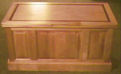 childs hope chest, wooden top